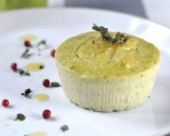 Recette flan aux haricots verts et parmesan au mascarpone