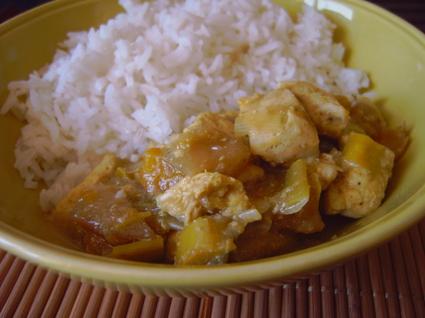 Recette de curry de poulet à la mangue