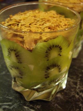 Recette de tiramisu kiwi et crêpes dentelles
