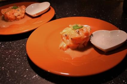 Recette de tartare de saumon rose aux fruits de la passion