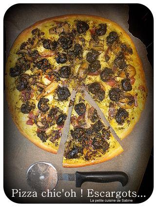 Recette de pizza aux escargots et pesto