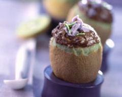 Recette kiwis à la mousse au chocolat