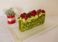 Recette de cake pistache framboise