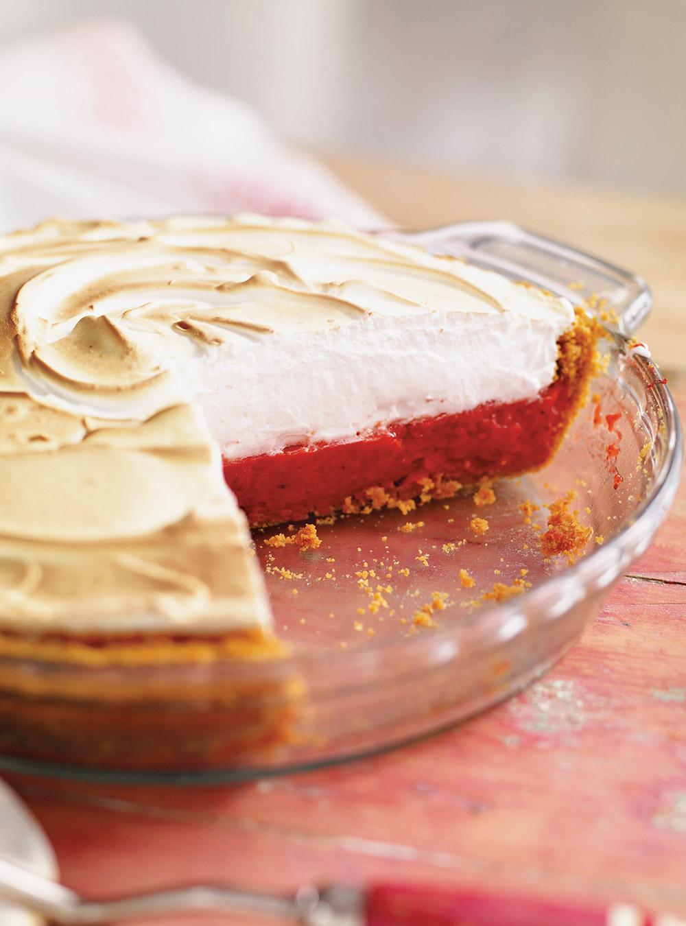 Tarte aux fraises meringuée | ricardo