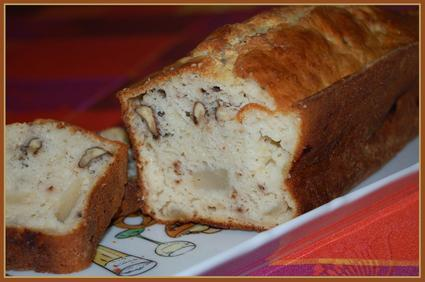 Recette de cake aux poires, bleu et noix