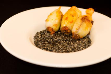 Recette de black risotto et encornets au chorizo