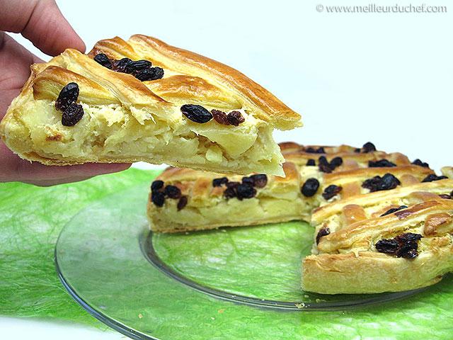 Tarte normande  fiche recette avec photos  meilleurduchef.com