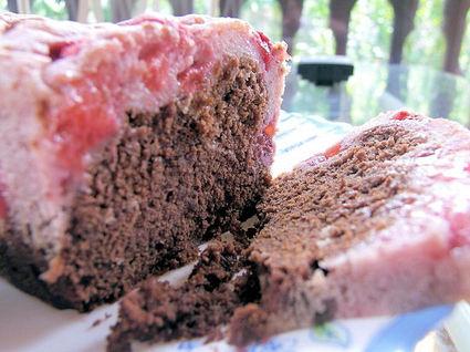 Recette de marbré choco-fraise