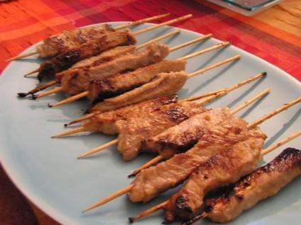Recette de brochettes de porc thaïlandaises