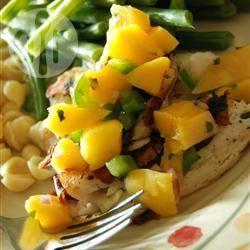 Recette tilapia grillé et sa salsa de mangue – toutes les recettes ...