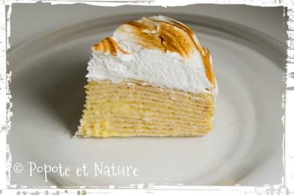 Recette de gâteau de crêpes façon tarte au citron meringuée