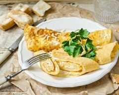 Recette omelette roulée au fromage