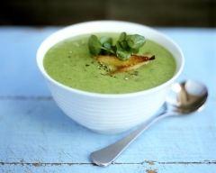 Recette soupe de cresson à l'amande