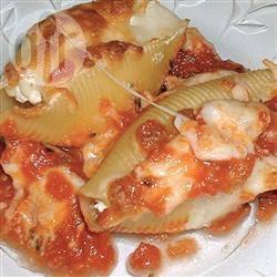 Recette pâtes coquilles farcies au fromage et au bacon – toutes les ...