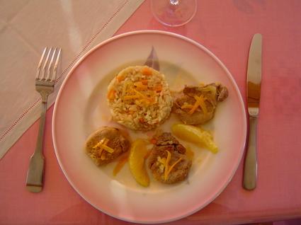 Recette de filet mignon de porc aux oranges