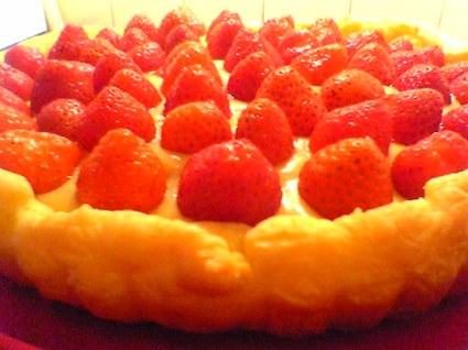 Recette de tarte aux fraises et crème citron