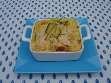 Recette de lasagnes de courgettes grillées et rouget au safran