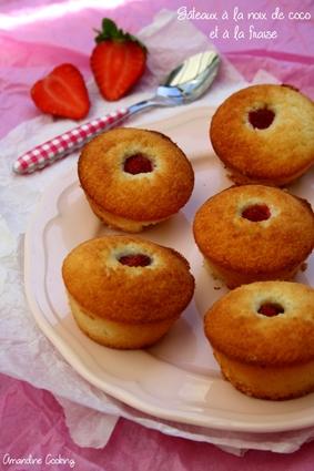 Mini-muffins noix de coco et fraise