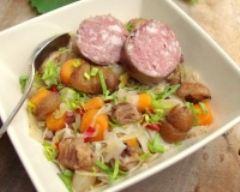 Recette potée au chou, aux châtaignes et saucisse