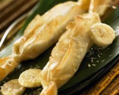 Recette papillotes croustillantes de banane au coco