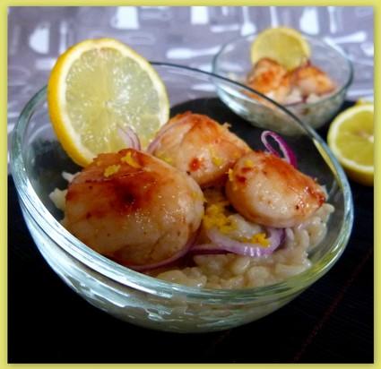 Recette de risotto au citron et aux saint-jacques