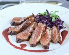 Recette magrets rôtis au gingembre, compotée de chou rouge à la ...