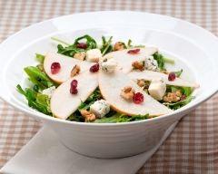 Recette salade verte, poires et roquefort