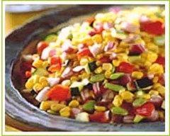 Recette salade de maïs, poivrons et courgettes