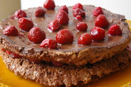 Recette gâteau au chocolat et aux framboises pour 5 personnes