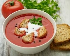 Recette soupe de tomates à l'oignon