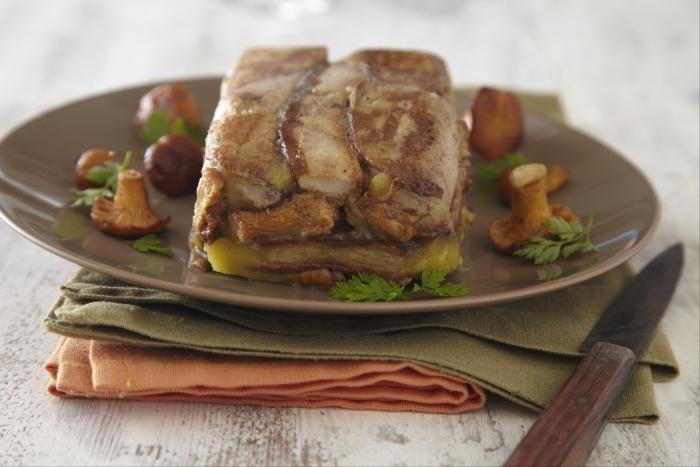 Recette de terrine de foie gras poêlé aux girolles facile et rapide