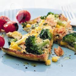 Recette frittata gratinée au brocoli et au saumon – toutes les ...