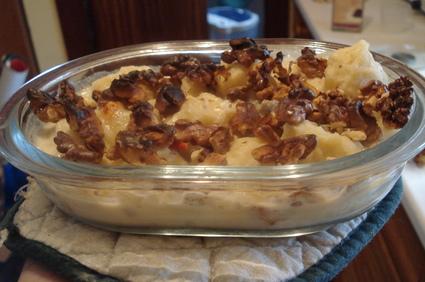 Recette de gratin de gnocchis au gorgonzola et aux noix