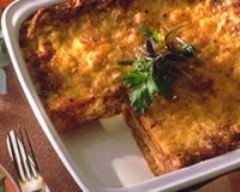Recette lasagnes aux légumes et au thon