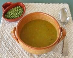 Recette soupe aux pois cassés pauvre en sel