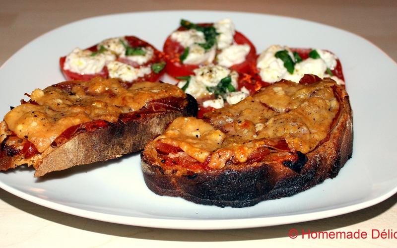 Tartines de courgettes mozza et lardons recette - Tartiflette cuisine az ...