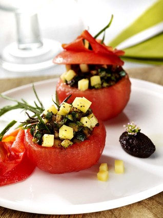 Recette de tomate surprise, ratatouille de comté