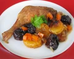 Recette cuisses de canard braisées aux fruits séchés