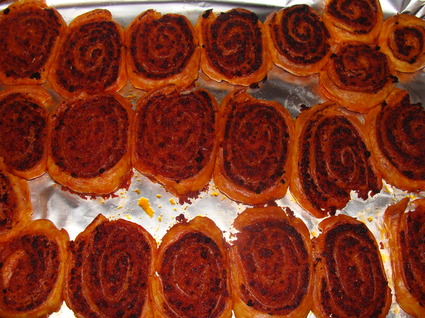 Recette de roulés au chorizo, tomate et gruyère