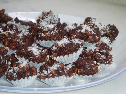 Recette de bouchées au chocolat et noix de coco