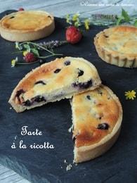 Recette tarte à la ricotta et aux fruits rouges (tarte dessert)