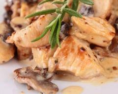 Recette escalopes de dinde aux champignons et à la crème fraîche