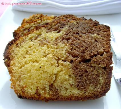 Recette de cake marbré chocolat vanille