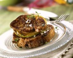 Recette foie gras poêlé sur lit de pommes