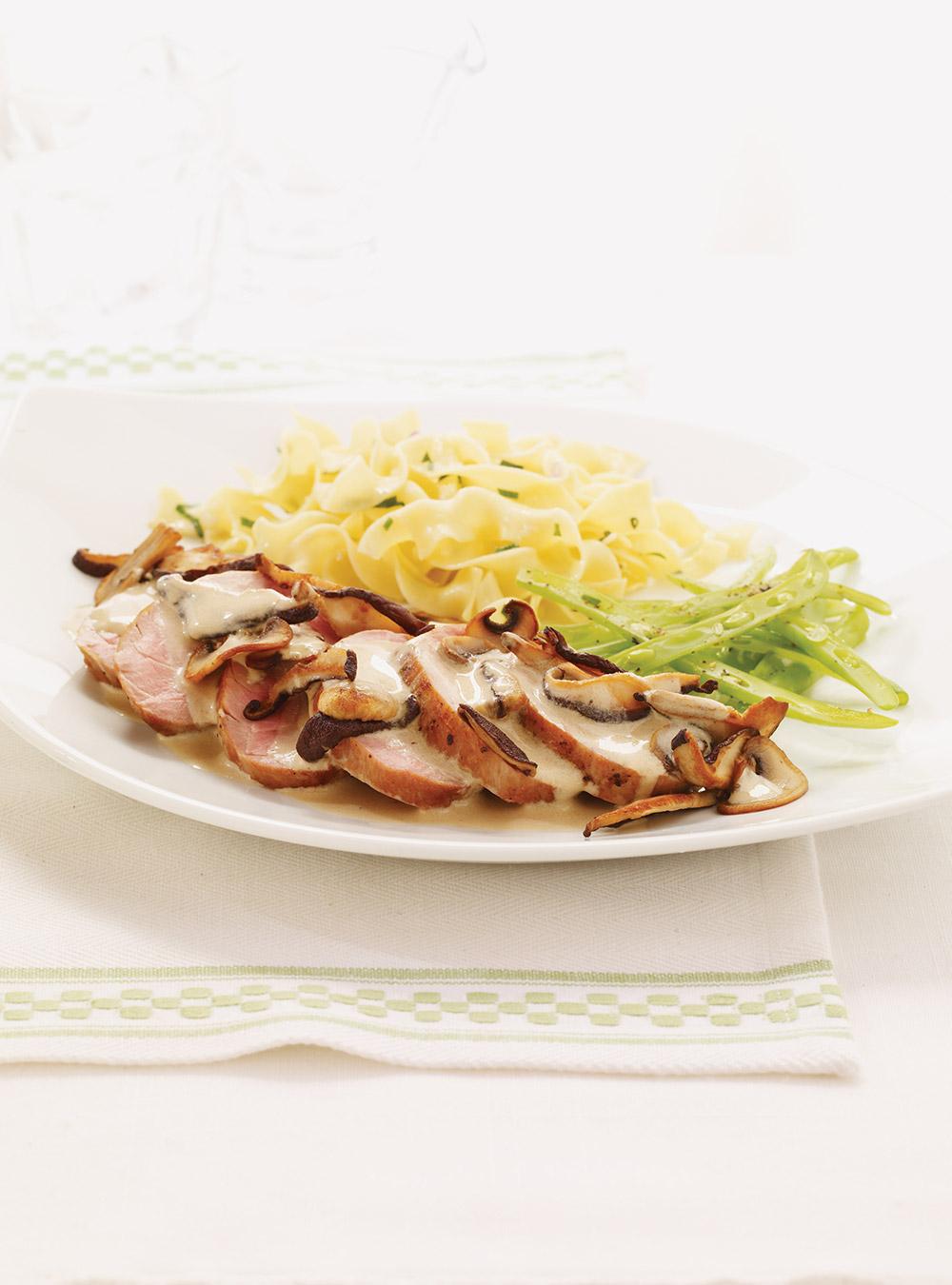 Filets de porc, sauce aux champignons | ricardo