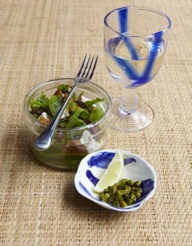 Salade feta-pistaches pour 4 personnes