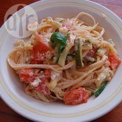 Recette spaghetti aux courgettes, tomates et feta – toutes les ...