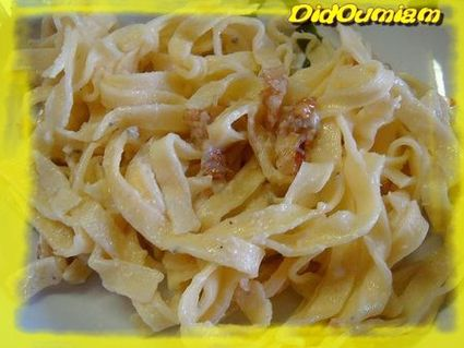 Recette de tagliatelles au magor (mascarpone   gorgonzola) et aux ...