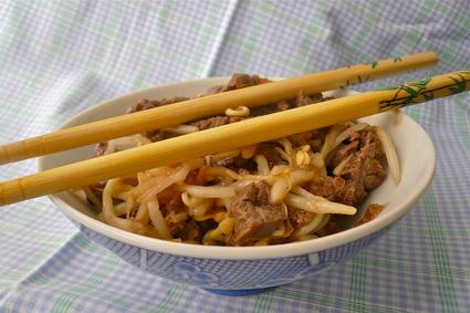 Recette de boeuf sauté gingembre/soja