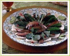 Recette salade de mâche aux foies de lapin.
